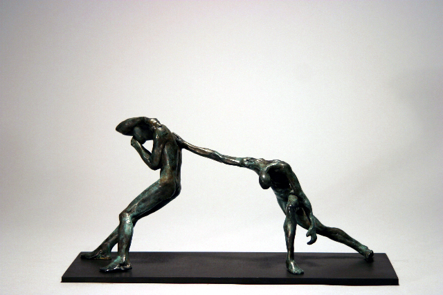 "Buttress,   Walter Horak, 2002.  7"" x 13"" x 5"", bronze ed. 9/25"