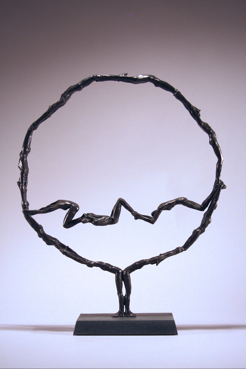 "Orbit ,  Walter Horak, 2009. 22"" x 18"" x 4.5"" bronze ed. 2/7"