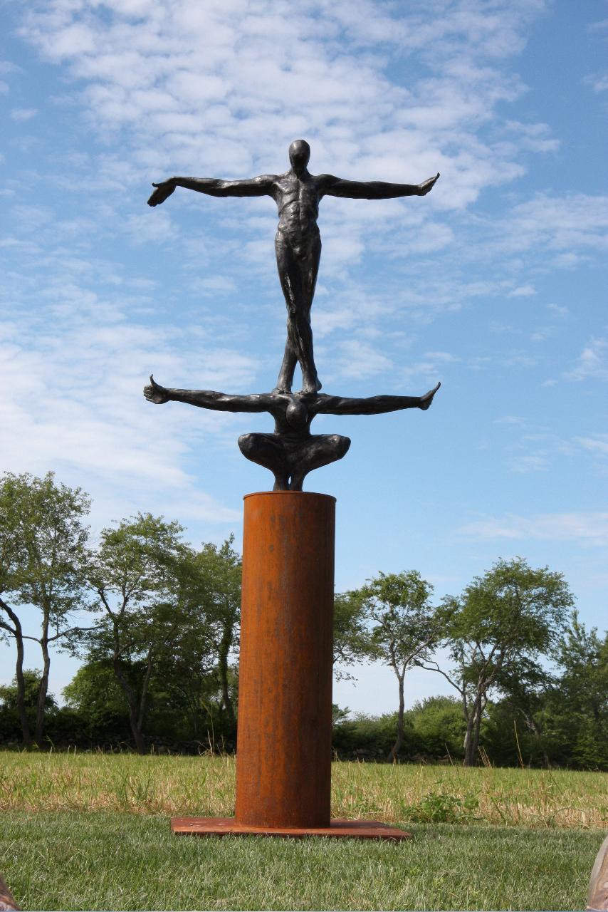 "Transit,   Walter Horak,2010.          82"" x 36"" x 25"", bronze, ed. 2/5"