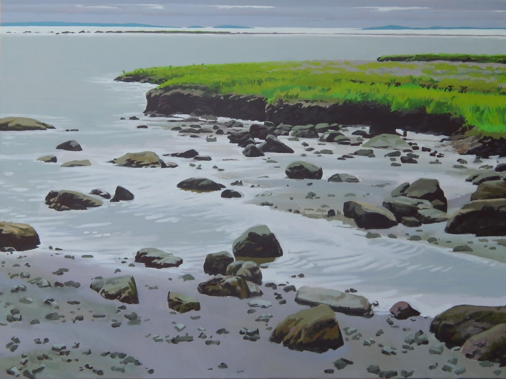 "Marsh Edge on a Gray Day II,   Severin Haines.  36'x48"", oil on canvas"