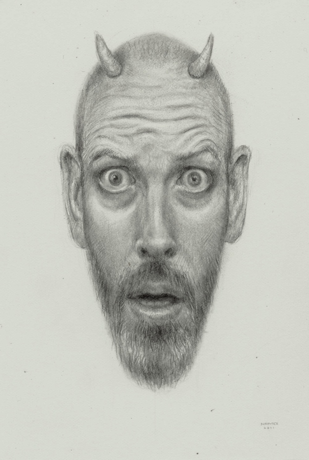 "Early the Next Morning   John Borowicz   graphite on paper, 6.25""x4.25"" 2012"