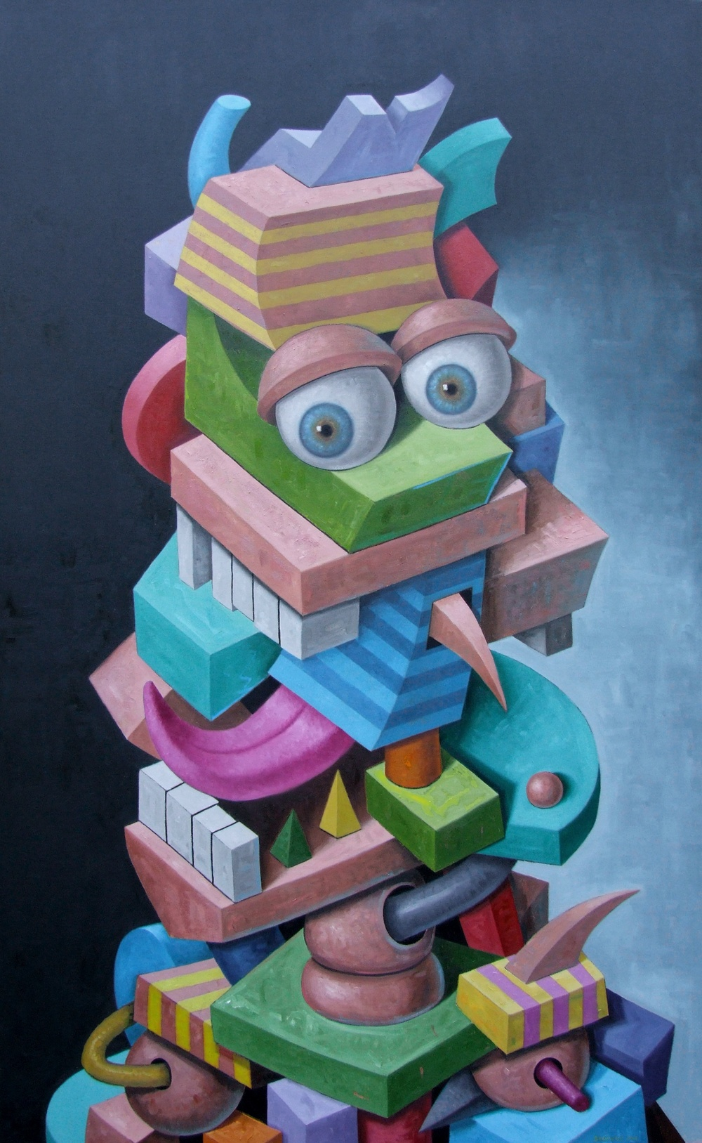 "Hamming It Up   John Borowicz   oil on canvas, 84""x52"" 2013"