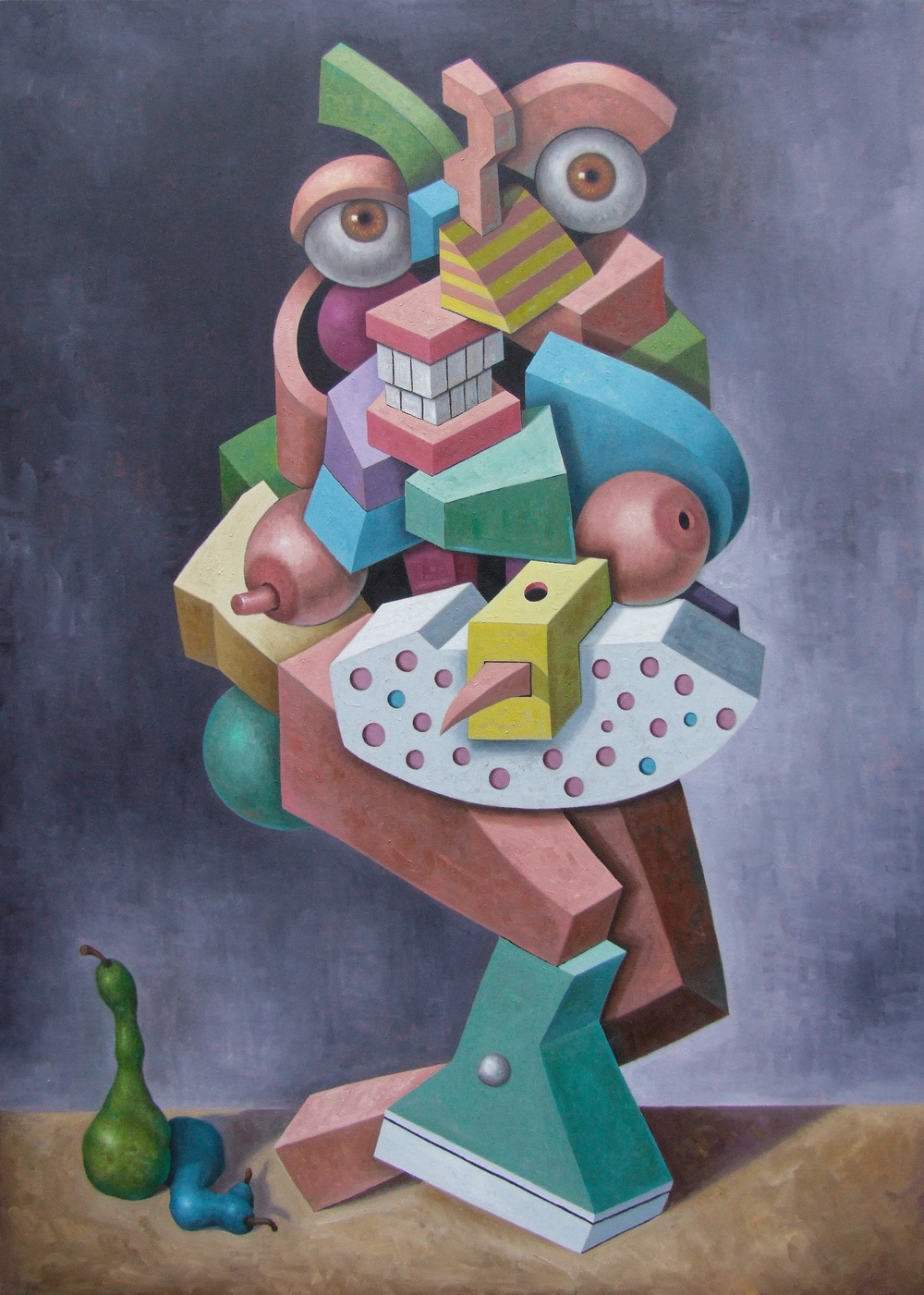 "The Wayward Au Pair   John Borowicz   oil on canvas, 84""x60"" 2013"