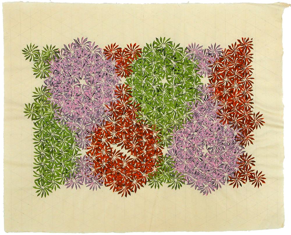 """udo 27     Jacqueline Ott, 2003  gouache, graphite on gampi  16.5"""" x 20.5"""""""