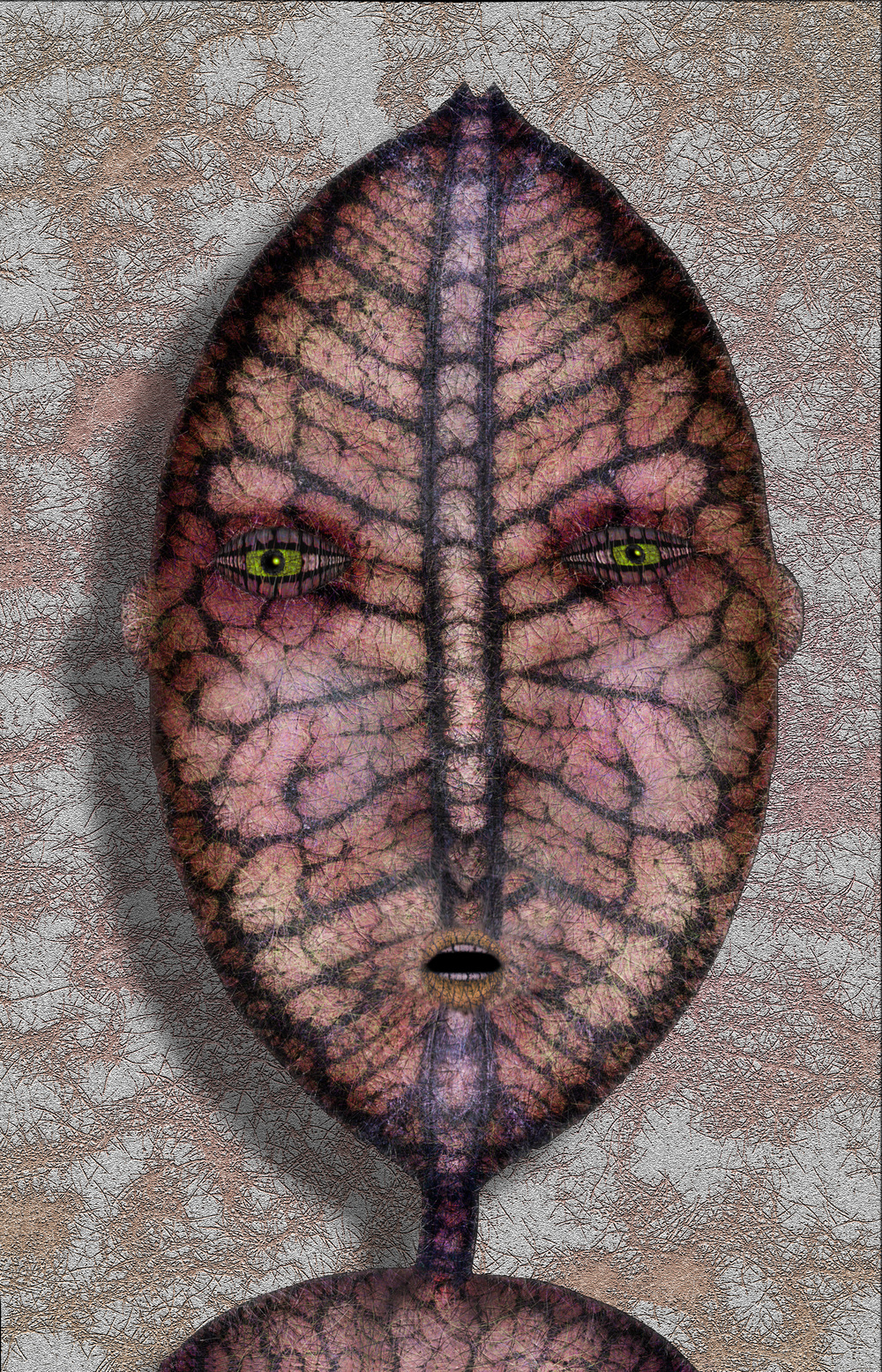 "Croton Face,   Harvey Goldman, 2013  26"" x 36"", Digital Print, 1/20"