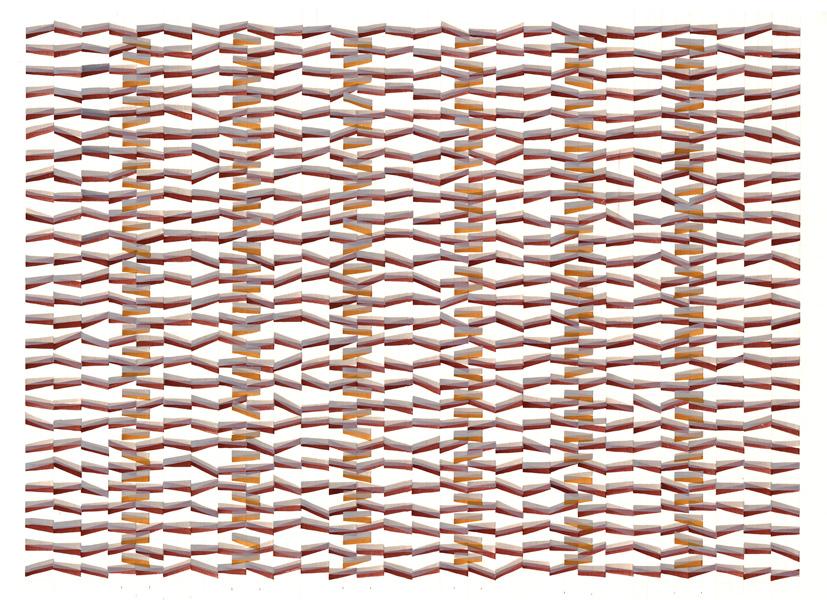"lapping 3     Jacqueline Ott, 2001  gouache, graphite on paper  22"" x 30""  24"" x 32"""