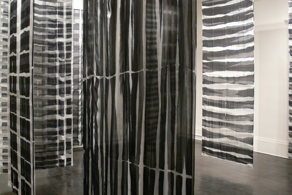 "Vox Stellarum     Elin Noble, 2009    106""x42"" dyed silk"