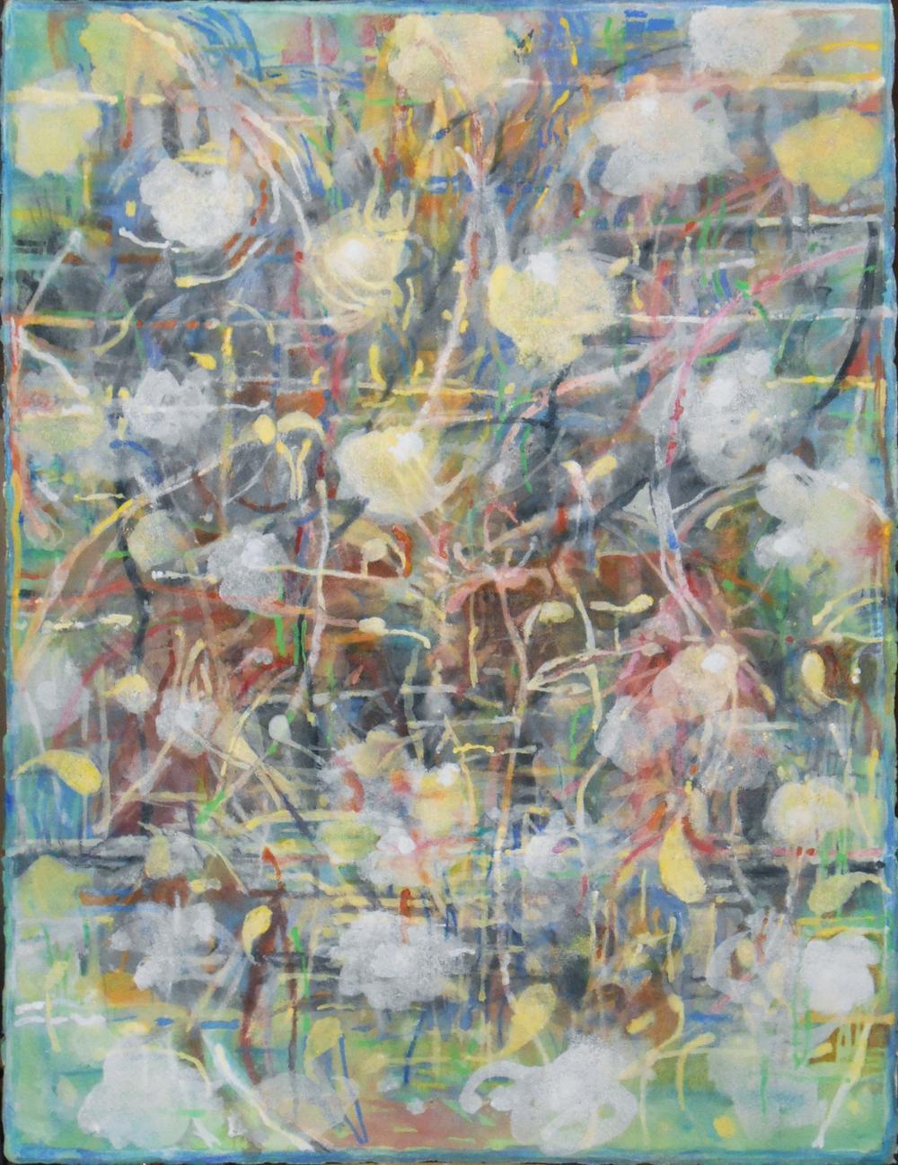 "Garden Pear     Pat Coomey Thornton, 2014    38""x30,"" Gouache"