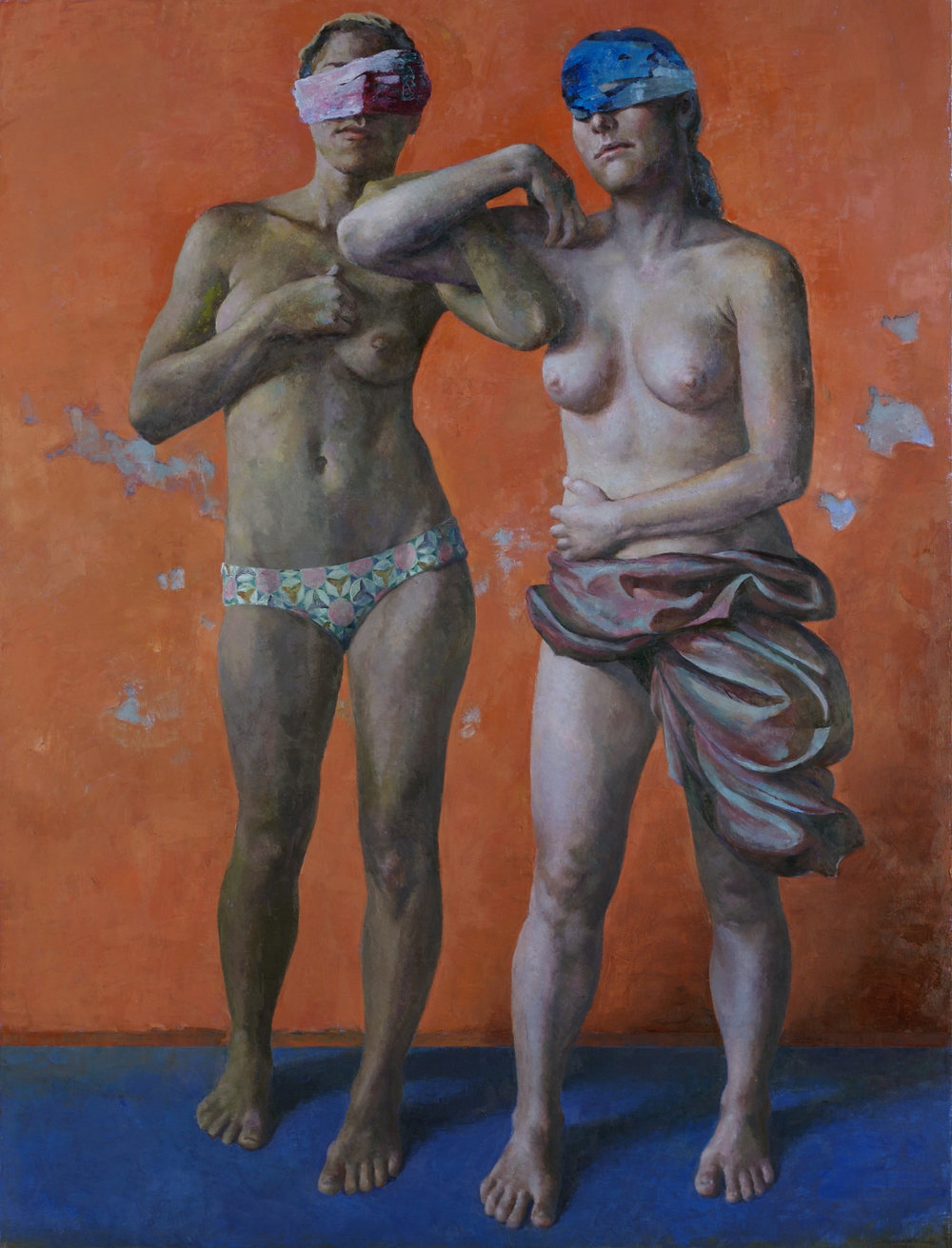 "Blind Leading the Blind,  56 x 46""    Oil on linen"