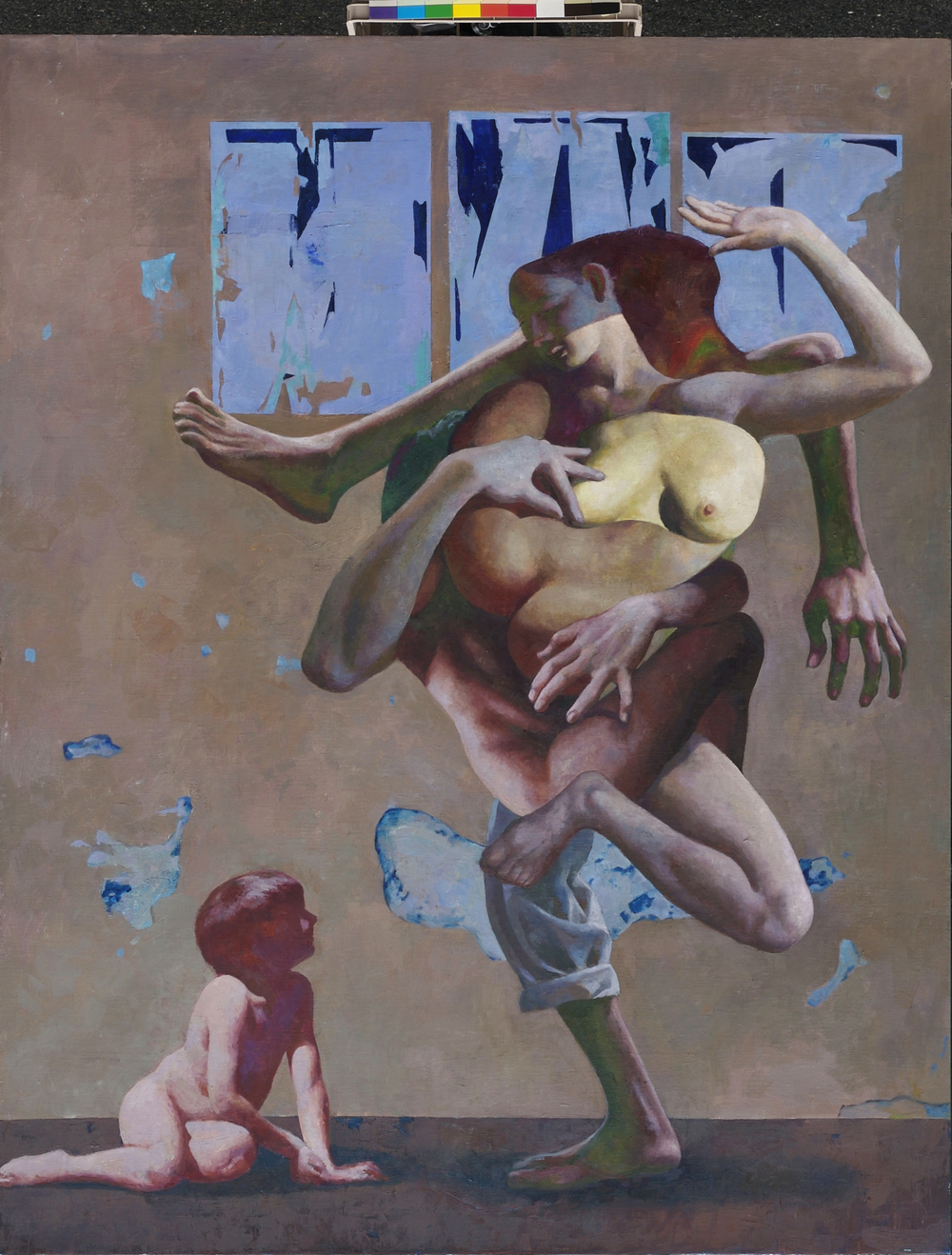 "Birth of Desire, 54 x 70""  Oil on linen"
