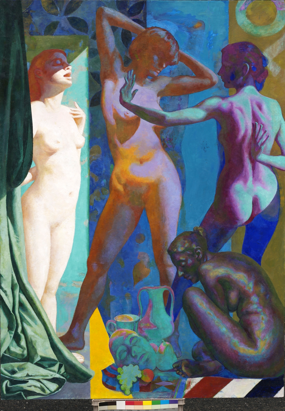 "Demoiselles,  70 x 50""    Oil on linen"