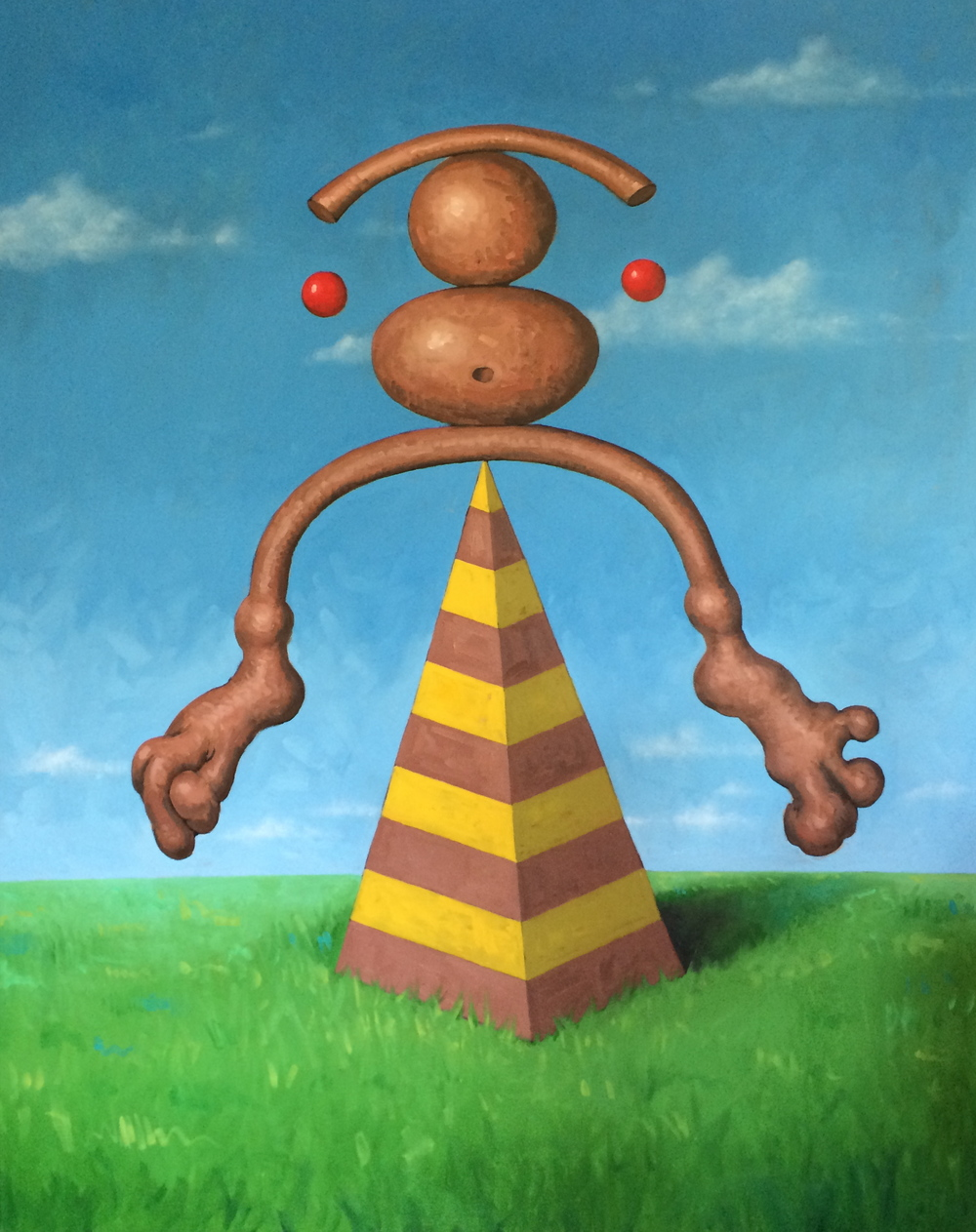 "Figure,  2014,   60 x 48""    Oil on canvas"