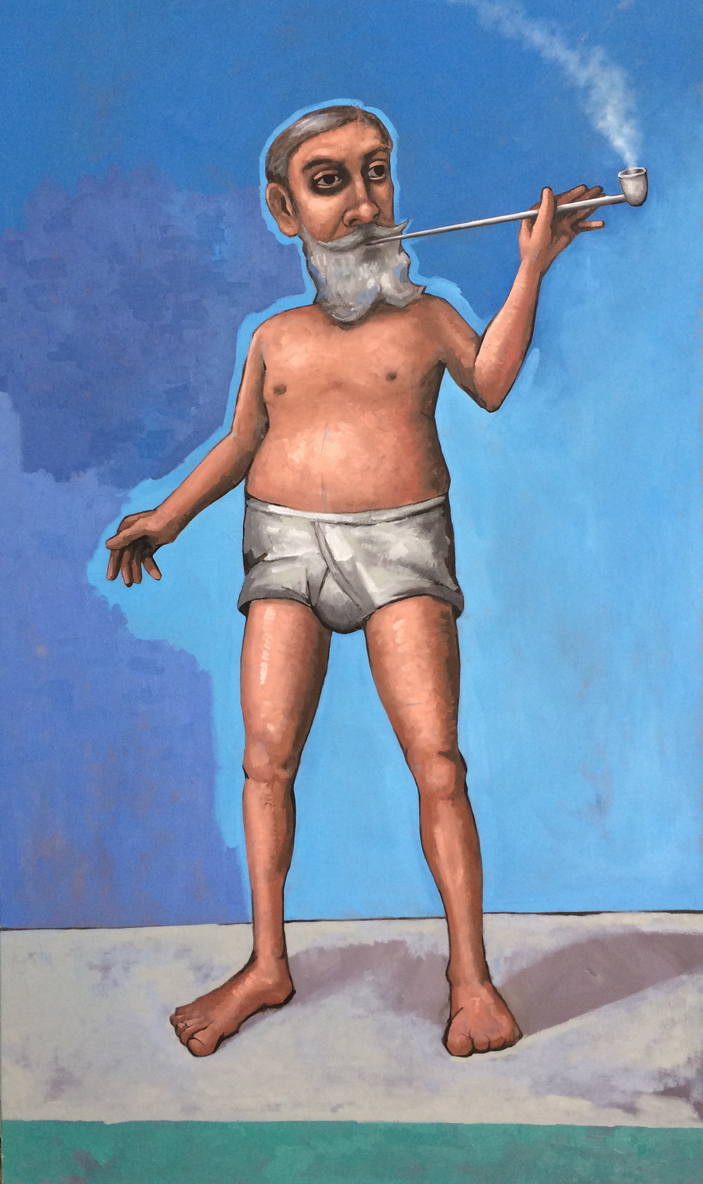 "The Guru,  2014,   60 x 48""    Oil on canvas"
