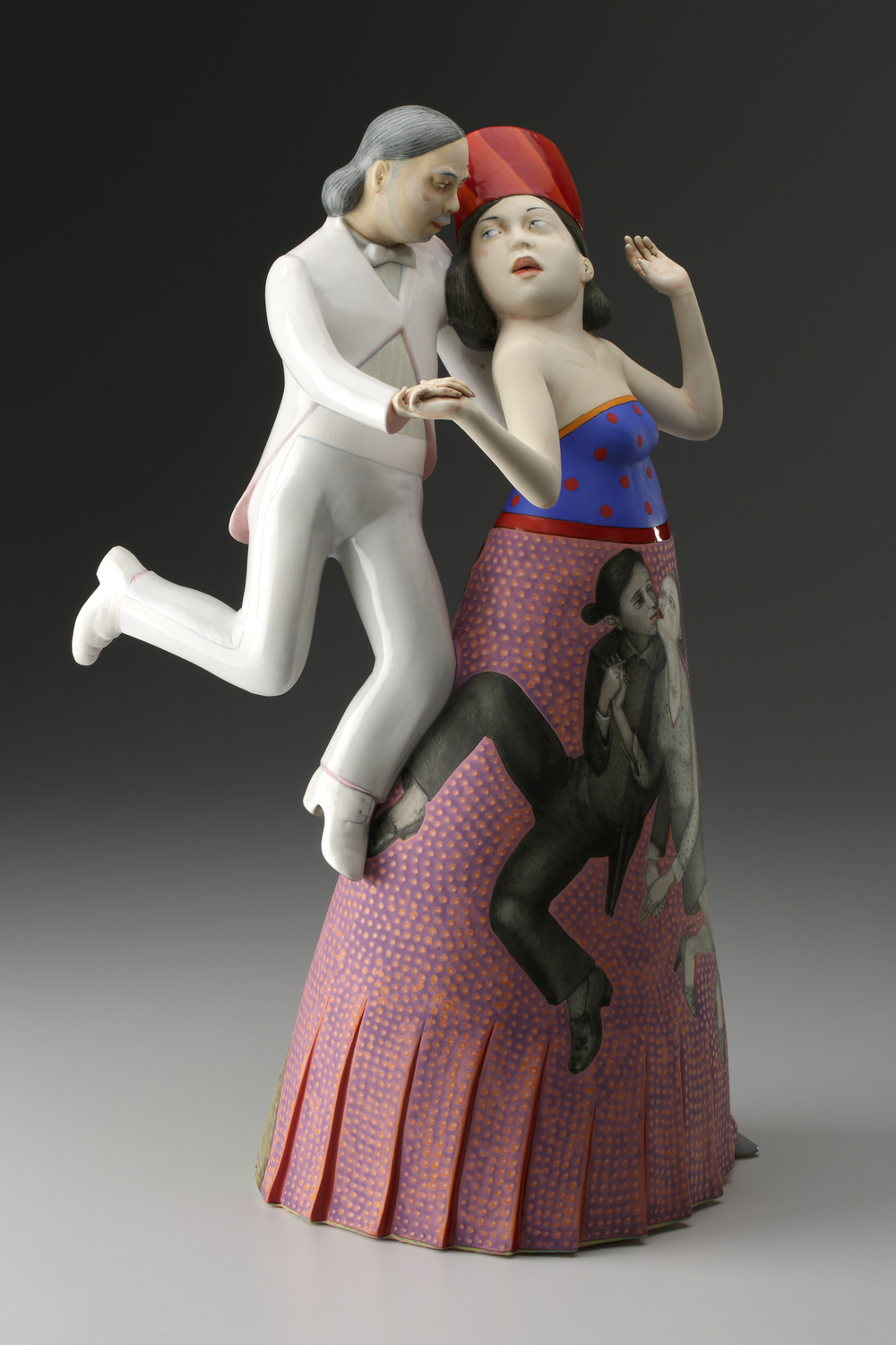 "Make Believe, 2014, 18.5 x 12 x 8"",  Porcelain, slip, and glaze     Photo: John Polak courtesy of Ferrin Contemporary"