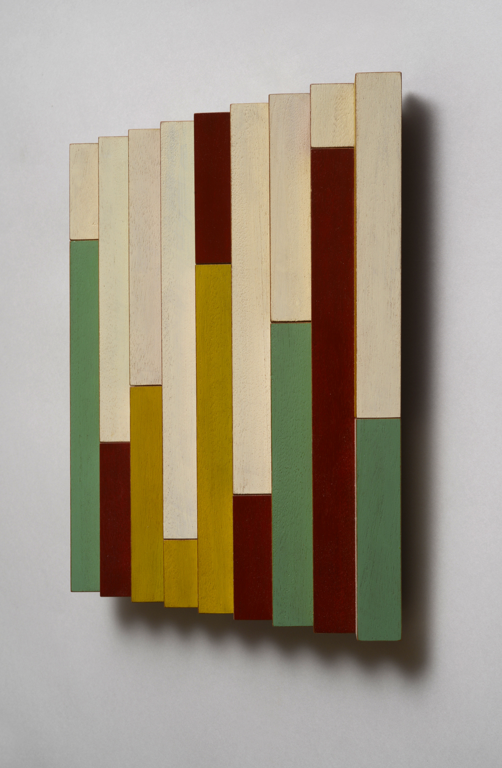"Candy Skyscrapers (Right)  Emi Ozawa, 2014  Acrylic on Mahogany  10 1/2""H x 10 1/4""W x 1 1/2""D"