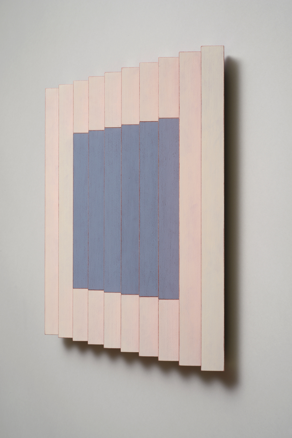"Seven Sisters, No.1 / Big Sister (Right)  Emi Ozawa, 2014  Acrylic on Poplar  16 1/4""H x 16 1/4""W x 2""D"