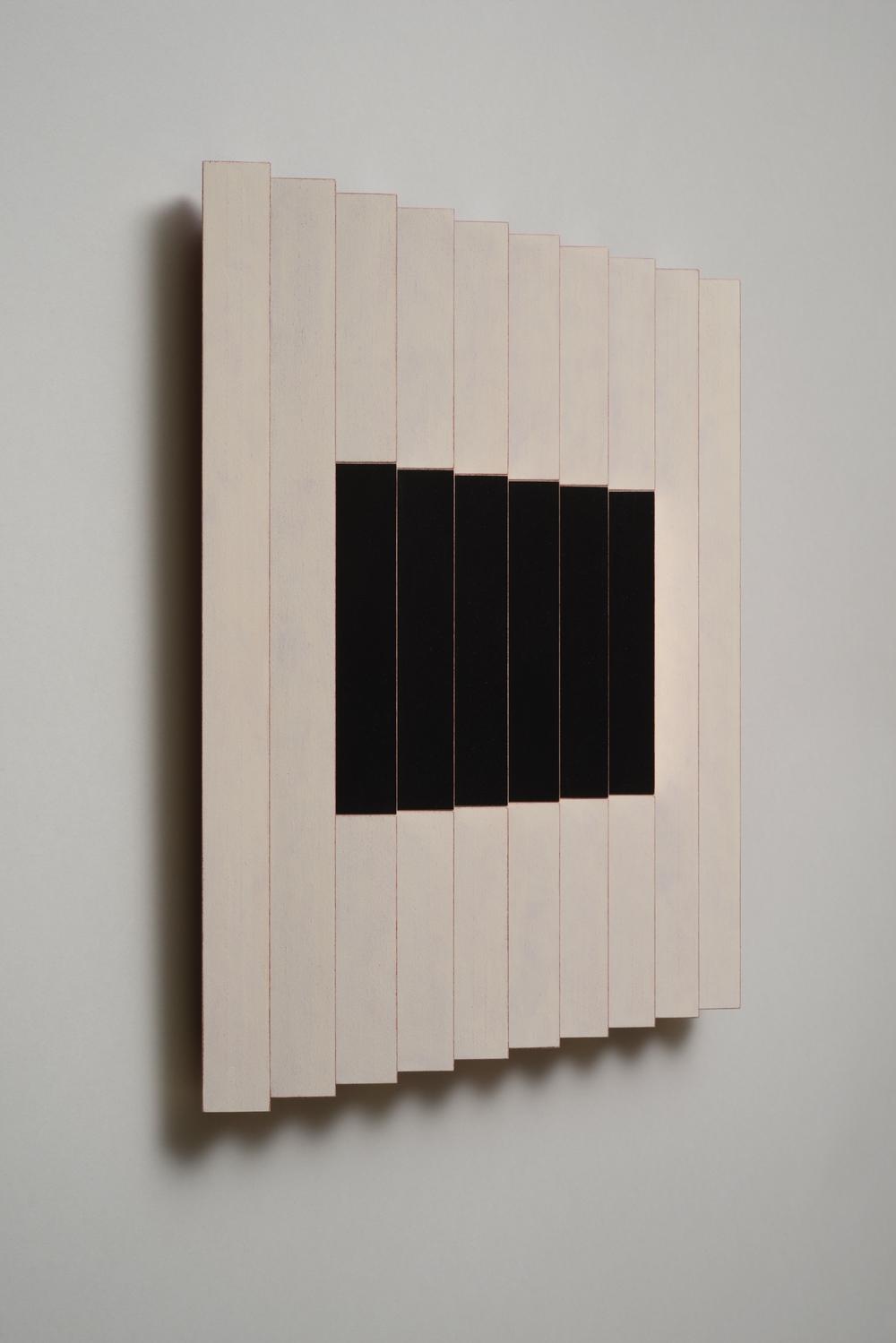 "Seven Sisters,No.2 / Sassy (Left)  Emi Ozawa, 2014  Acrylic on Poplar  16 1/4""H x 16 1/4""W x 2""D"