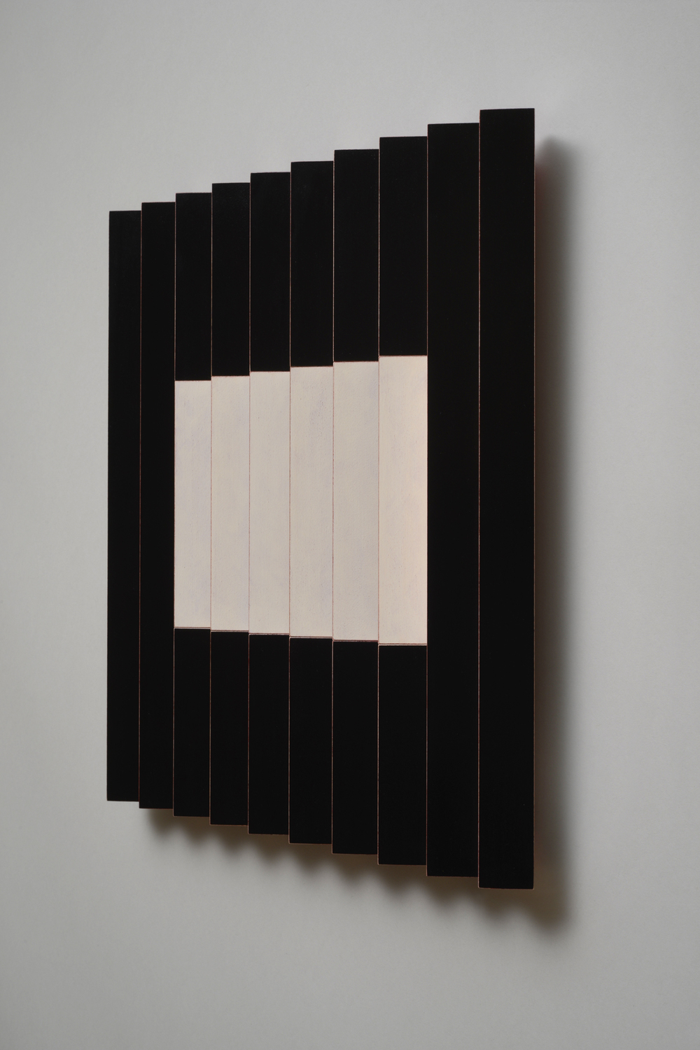 "Seven Sisters, No.2 / Sassy (Right)  Emi Ozawa, 2014  Acrylic on Poplar  16 1/4""H x 16 1/4""W x 2""D"