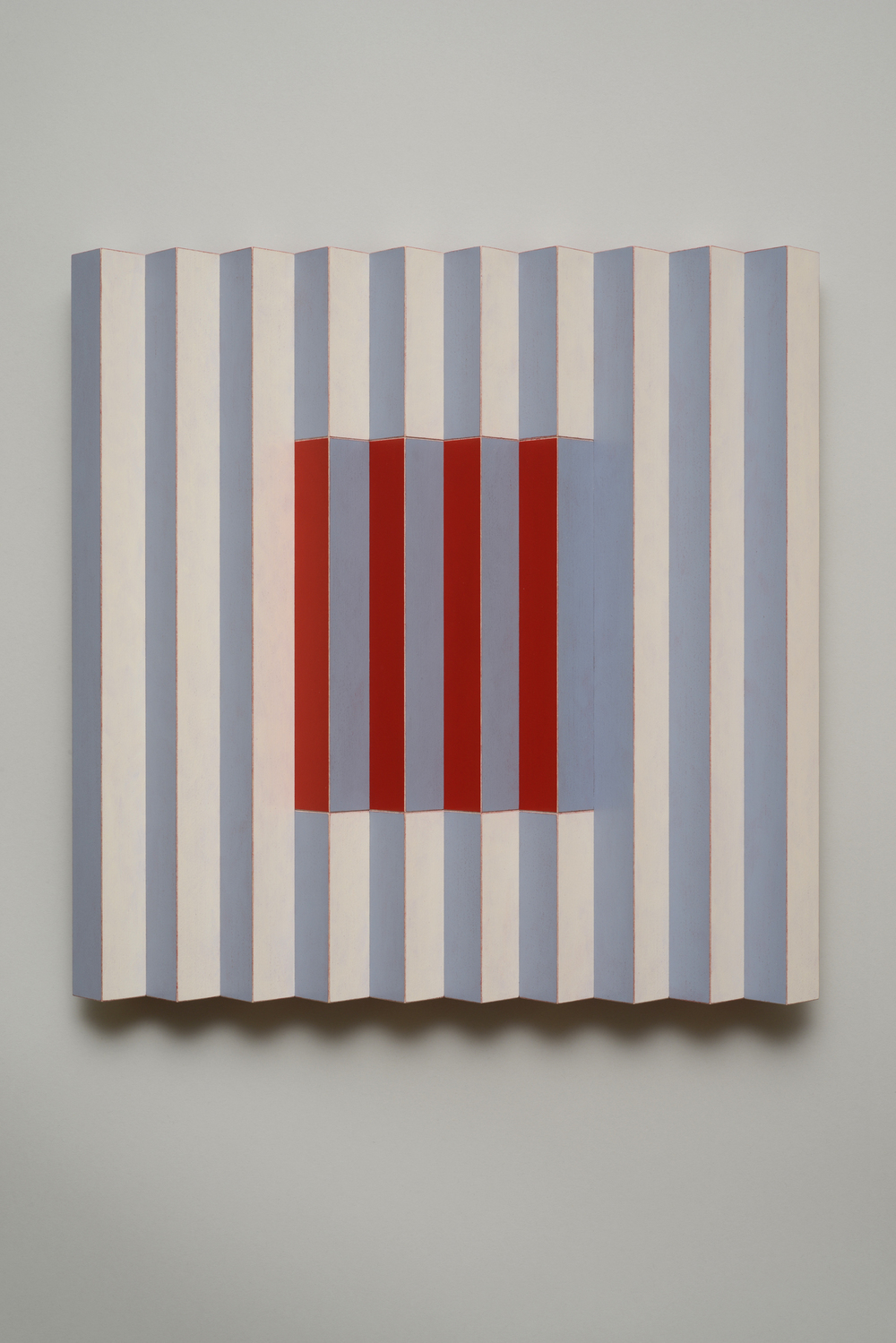 "Seven Sisters, No.3 / Cheery Cherry (Center)  Emi Ozawa, 2014  Acrylic on Poplar  16 1/4""H x 16 1/4""W x 2""D"