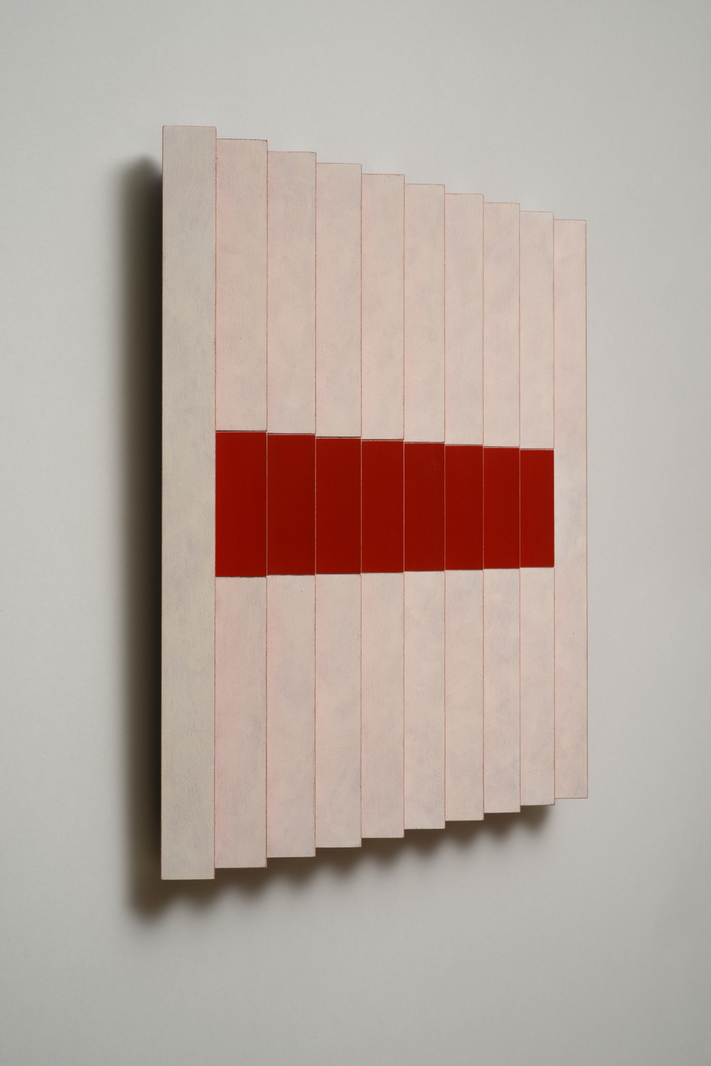 "Seven Sisters, No.4 / Happy Middle (Left)  Emi Ozawa, 2014  Acrylic on Poplar  16 1/4""H x 16 1/4""W x 2""D"
