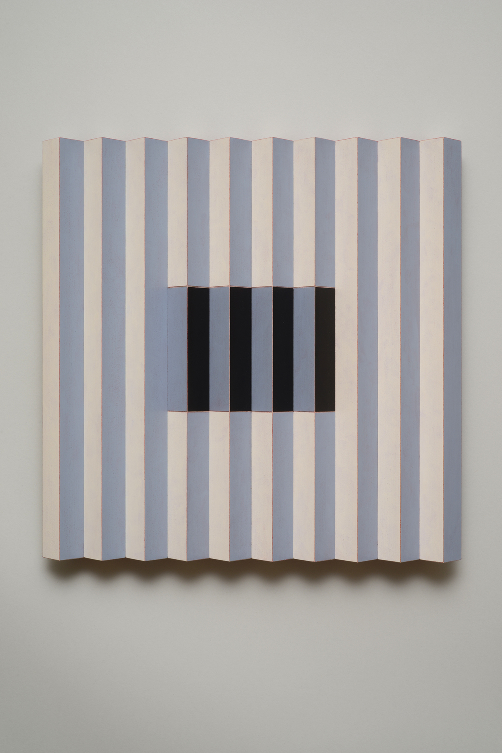 "Seven Sisters, No.5 / Quiet One (Center)  Emi Ozawa, 2014  Acrylic on Poplar  16 1/4""H x 16 1/4""W x 2""D"