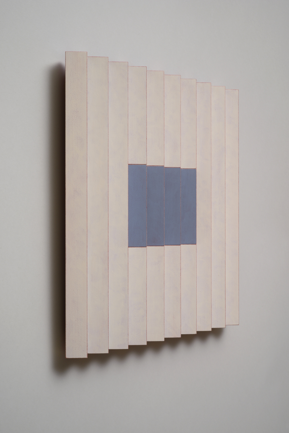 "Seven Sisters, No.5 / Quiet One (Left)  Emi Ozawa, 2014  Acrylic on Poplar  16 1/4""H x 16 1/4""W x 2""D"
