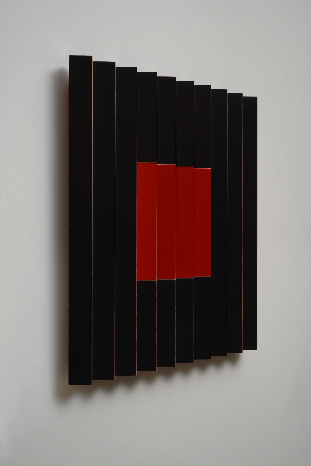 "Seven Sisters, No. / Midnight Cherry (Left)  Emi Ozawa, 2014  Acrylic on Poplar  16 1/4""H x 16 1/4""W x 2""D"