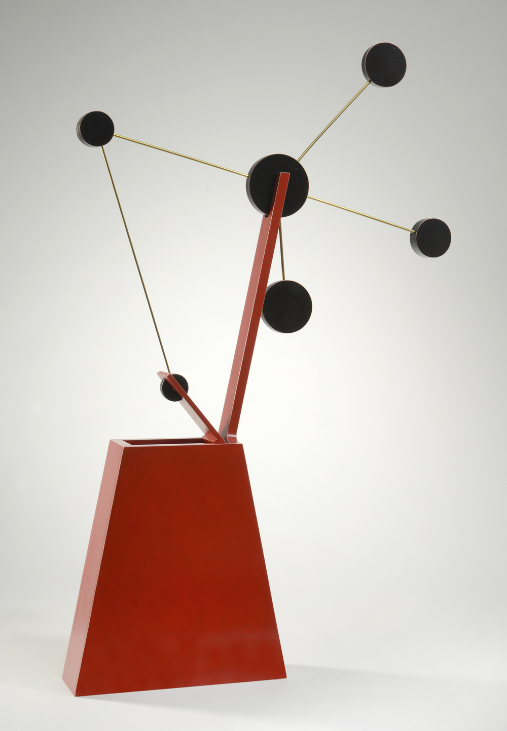 "Constellation No.1 (up)  Emi Ozawa, 2010  Birch Plywood, Acrylic Paint, Brass  31""H x 20""W x 3""D"