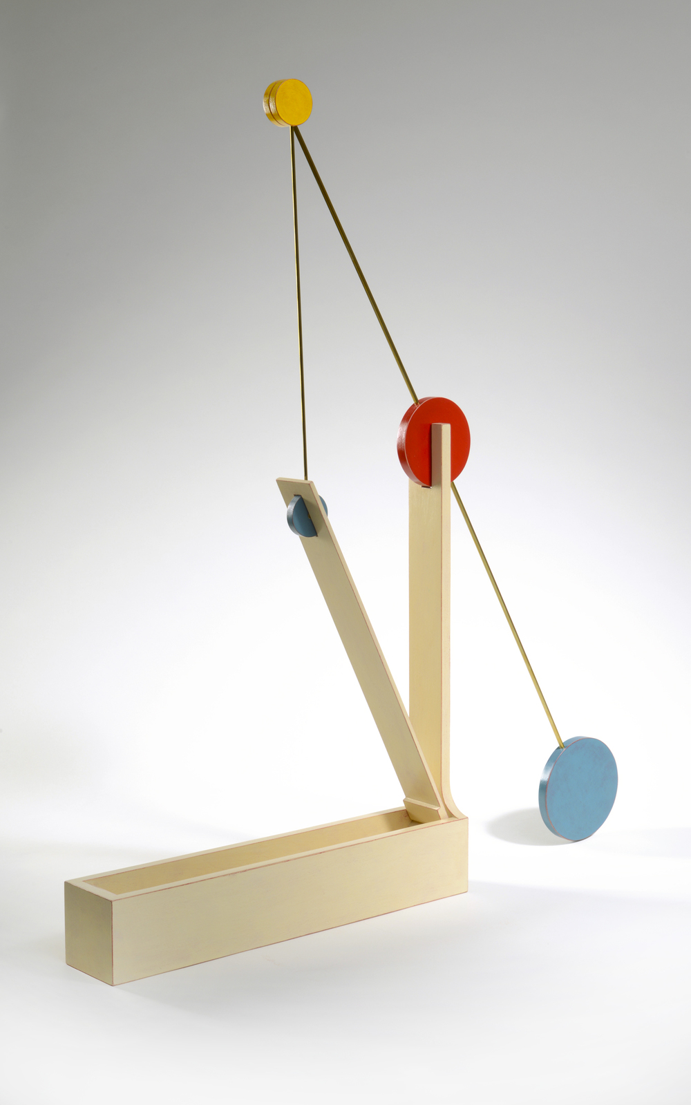 "Slow to Square (up)  Emi Ozawa, 2010  Birch Plywood, Acrylic Paint, Brass  19""H x 36""W x 3""D"