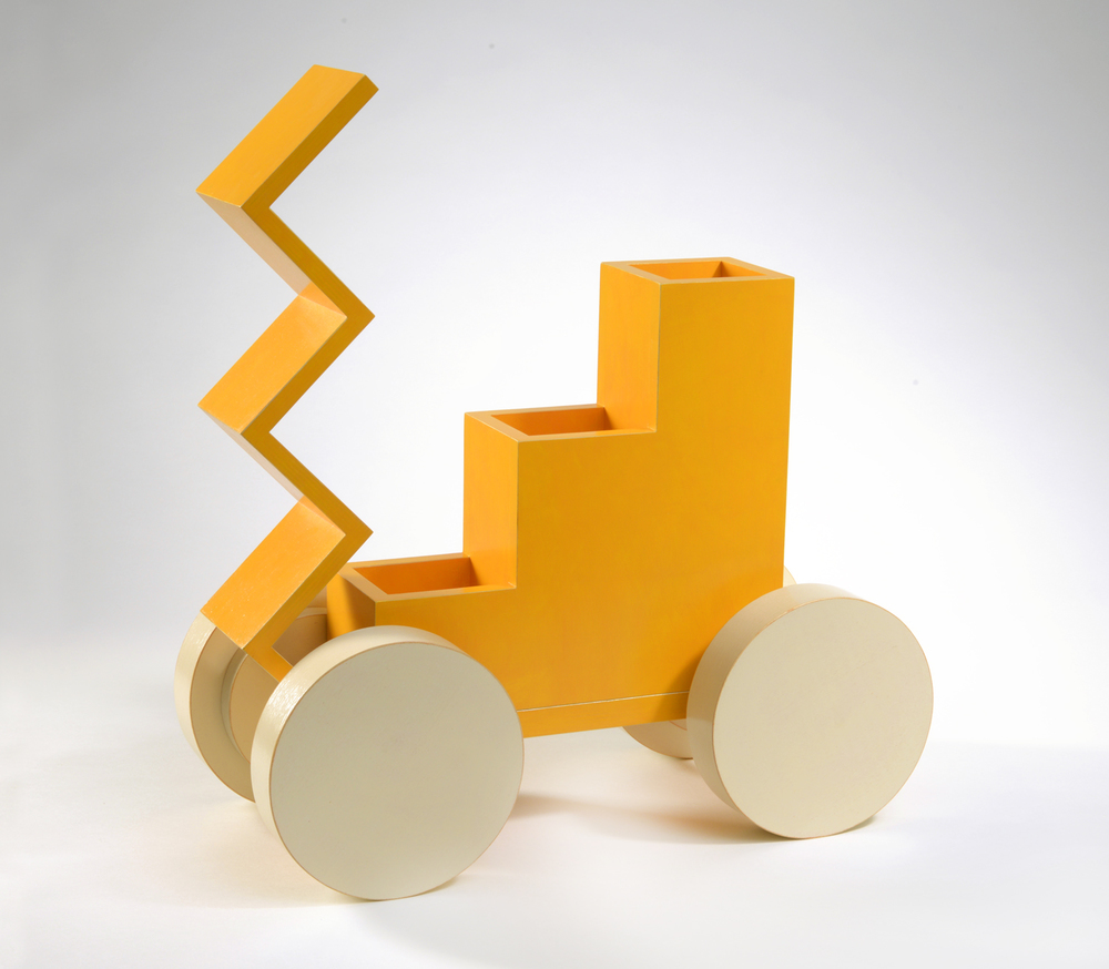 "Tangerine Cream (up)  Emi Ozawa, 2011  Birch Plywood, Acrylic paint, Brass  13 3/4""H x 16 3/4""W x 7 3/4""D"