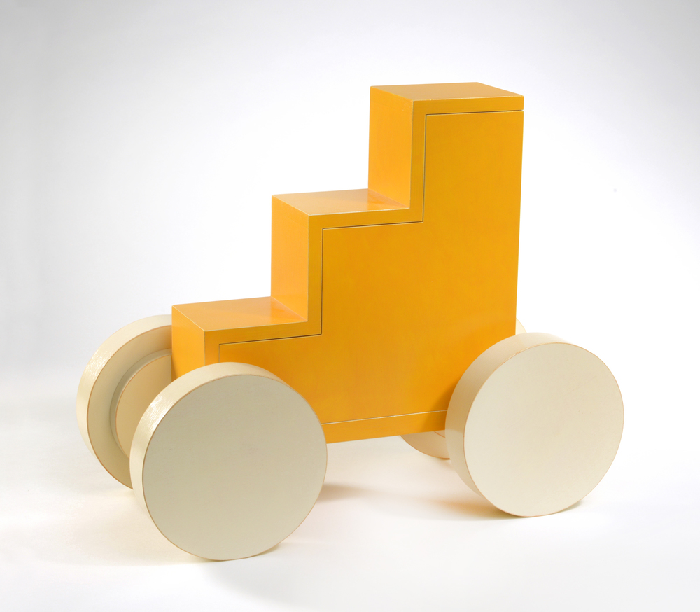 "Tangerine Cream (down)  Emi Ozawa, 2011  Birch Plywood, Acrylic paint, Brass  13 3/4""H x 16 3/4""W x 7 3/4""D"