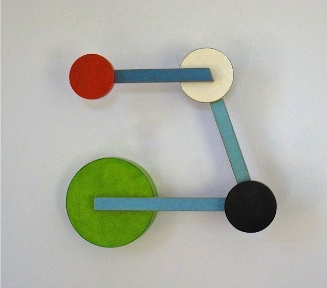 Scooter        Emi Ozawa, 2013        Birch plywood, mahogany, acrylic paint        9 × 12 × 3   1/2   in