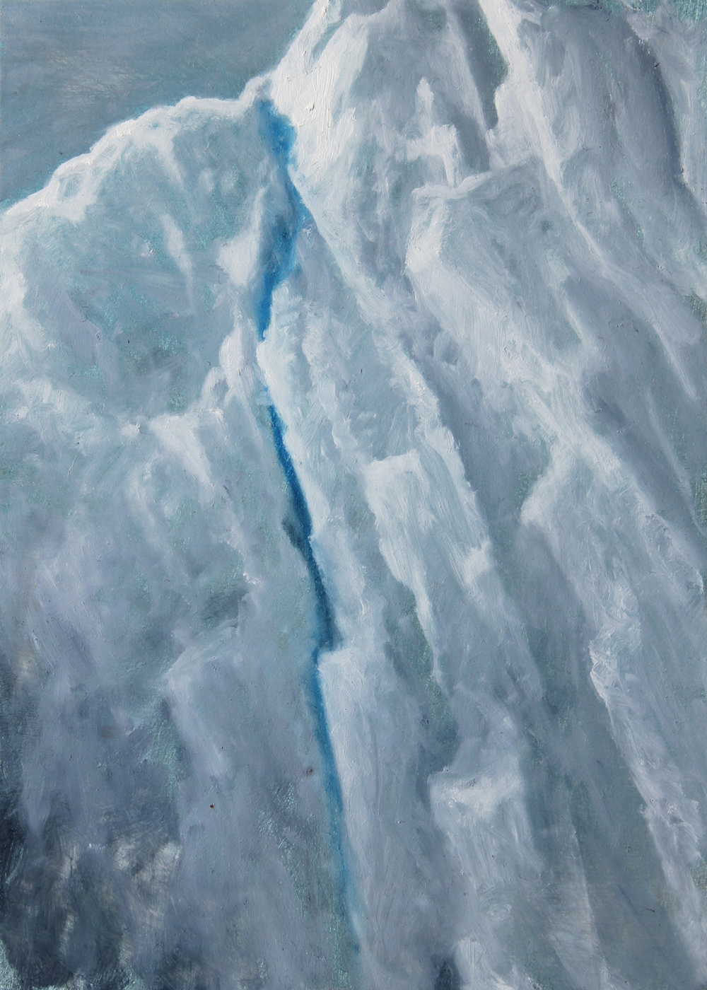"Iceberg Detail | 2012 | oil on aluminum | 7"" x 5"" 