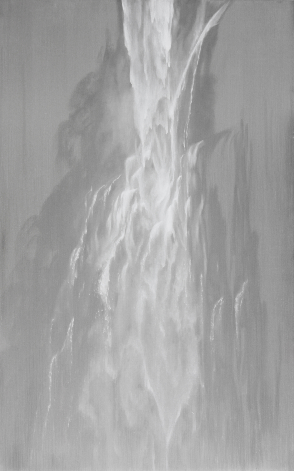 "Multnomah Falls Cascade | 2012 | oil on aluminum | 25"" x 40"" 