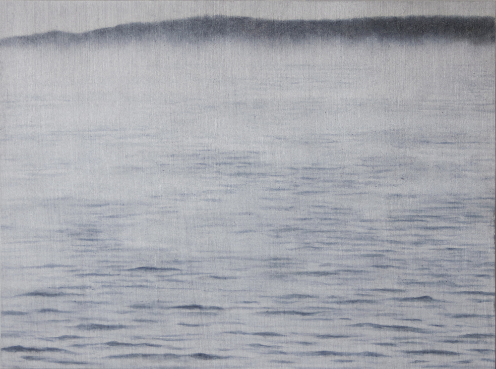 "Penobscot Bay Sea Smoke | 2014 | oil on aluminum | 5"" x 6 1⁄2"" 