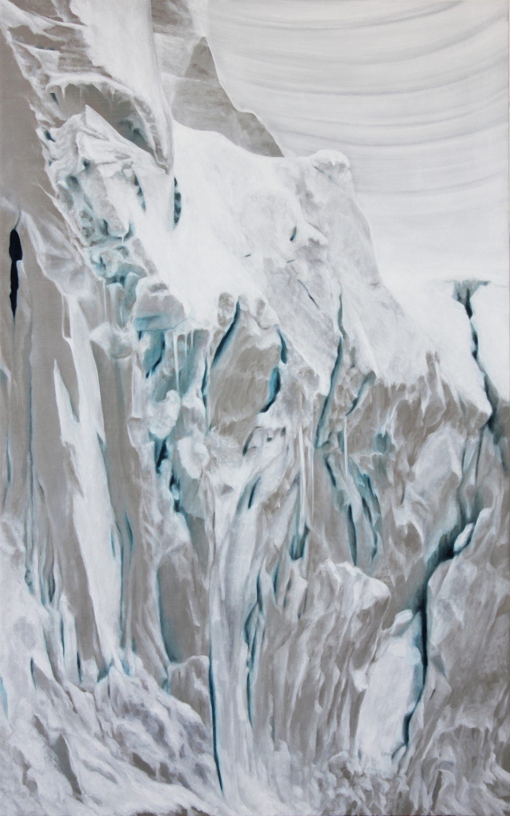 "Calving Glacier | 2012 | oil on aluminum | 25"" x 40"" 