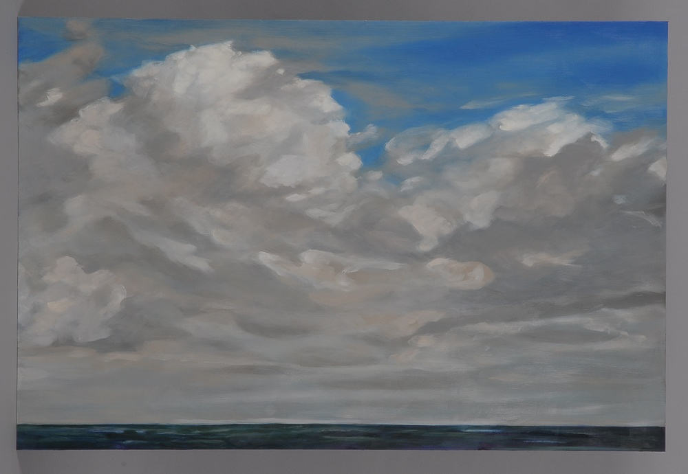 "Small Florida Cloud  2014  24"" H x 36"" W  oil paint on gesso board"