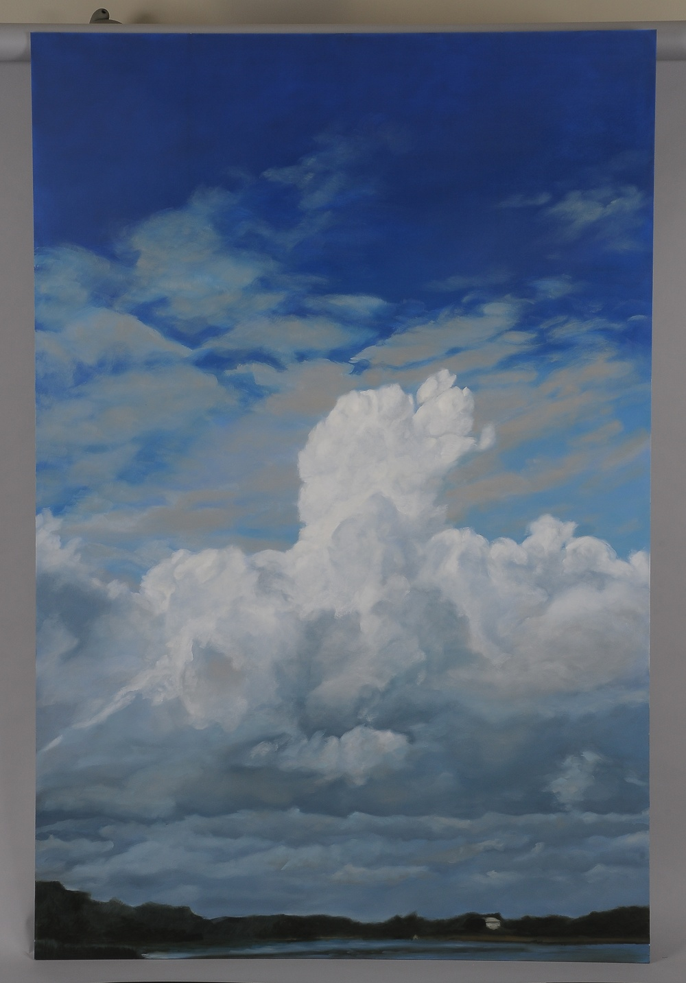 "Slocum Cumulus  2014  63"" H x 42"" W  oil paint on gesso board"