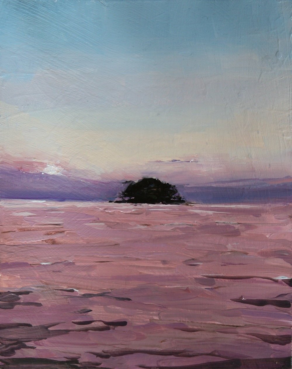 "Pink Evening in Las Isletas,  Oil on board, 8"" x 10""  Sold"
