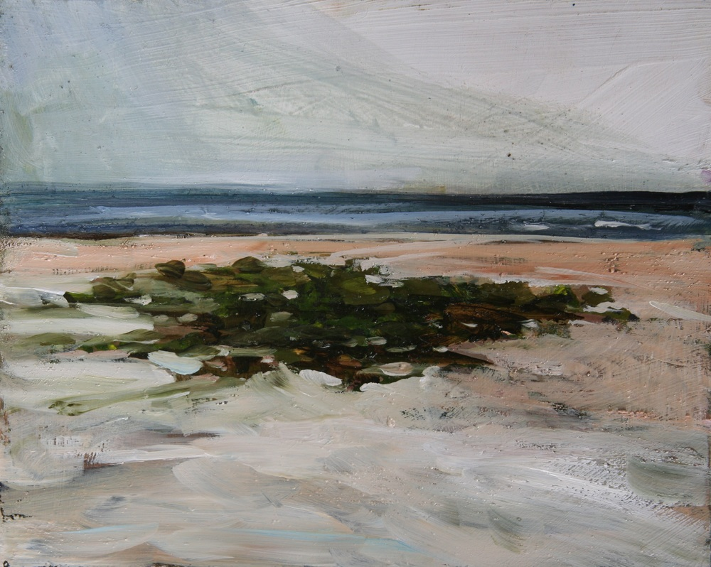 "Beach Green; Noon,  Oil on board, 8"" x 10""  Sold"
