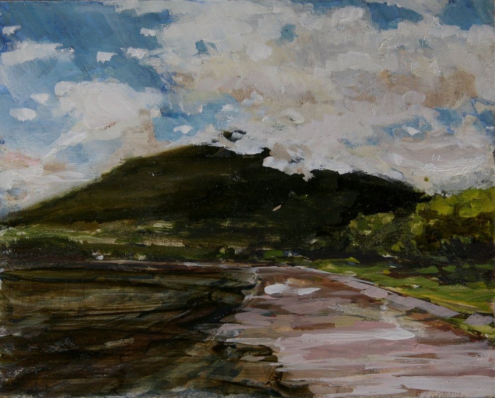 "Water Soughing on Ometepe Beach, Lake Nicaragua,  Oil on board, 8"" x 10""  $1100.00"