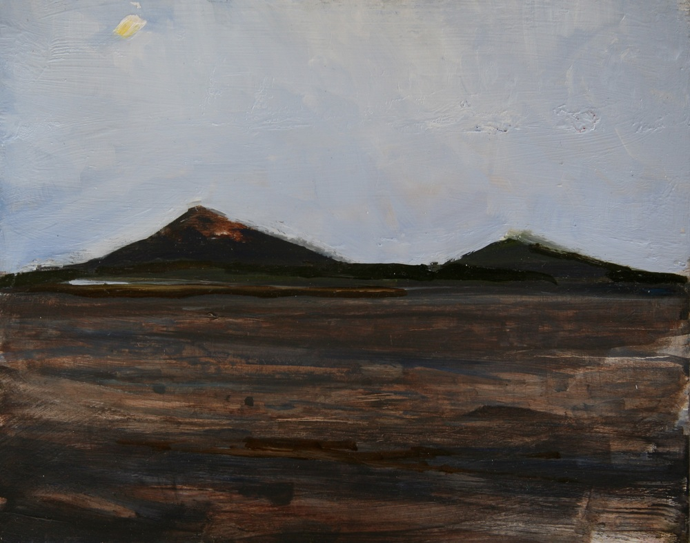 "On the Ferry Approaching Ometepe , Oil on board, 8"" x 10""  $1100.00"