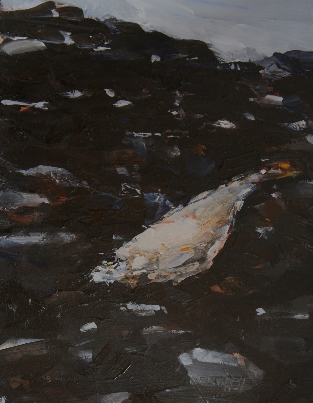 "Sardine #2, Brito , Oil on board, 10"" x 8""  Sold"