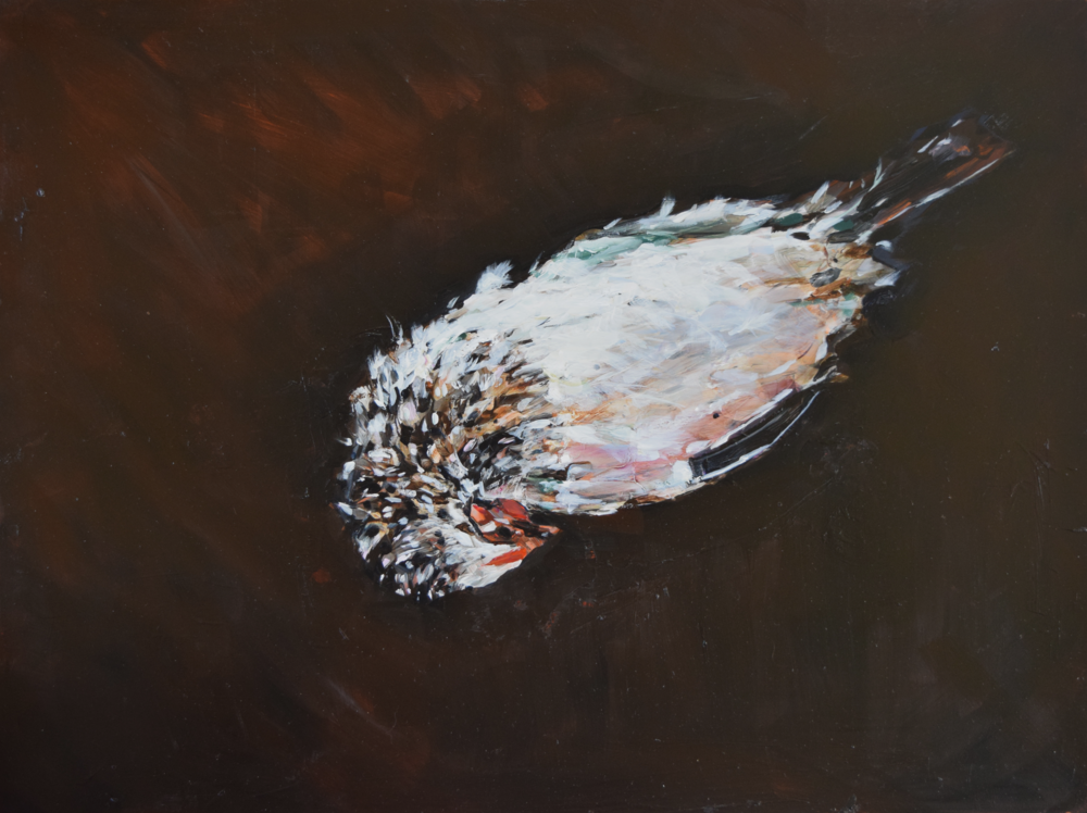 "The Brooder (From Round the Bend Farm) , oil on board, 18"" x 24""   $4800.00"