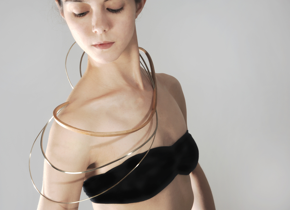 Arabesque Necklace    Samantha Nania, 2013  Beechwood, nickel