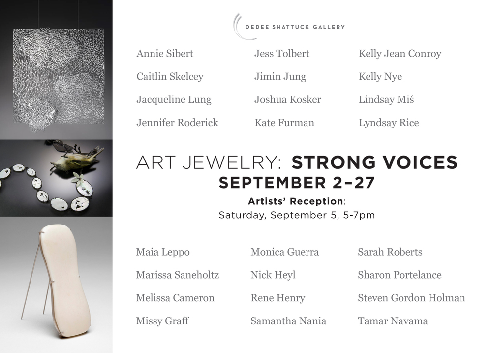 ART JEWELRY: STRONG VOICES September 2-27