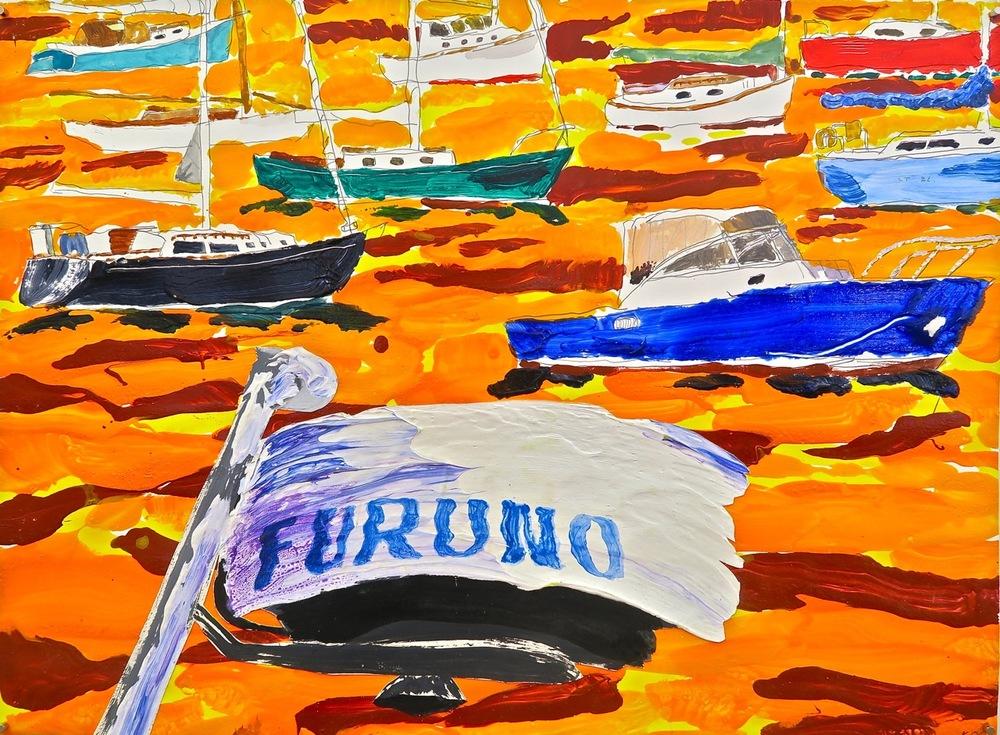 "Furuno  2006 22'x30"" watercolor, acrylic, on paper"