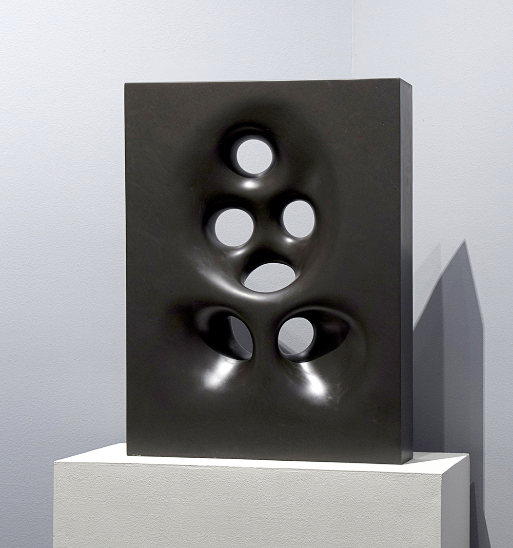 "Black Hole Sun, 2011  Black slate, 27"" x 17"" x 4""  $17,000"
