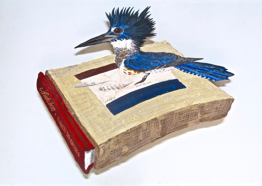 """Audubon Early Drawings,2016     41""""x49,"""" acrylic, ink, on panel    $5,500"""