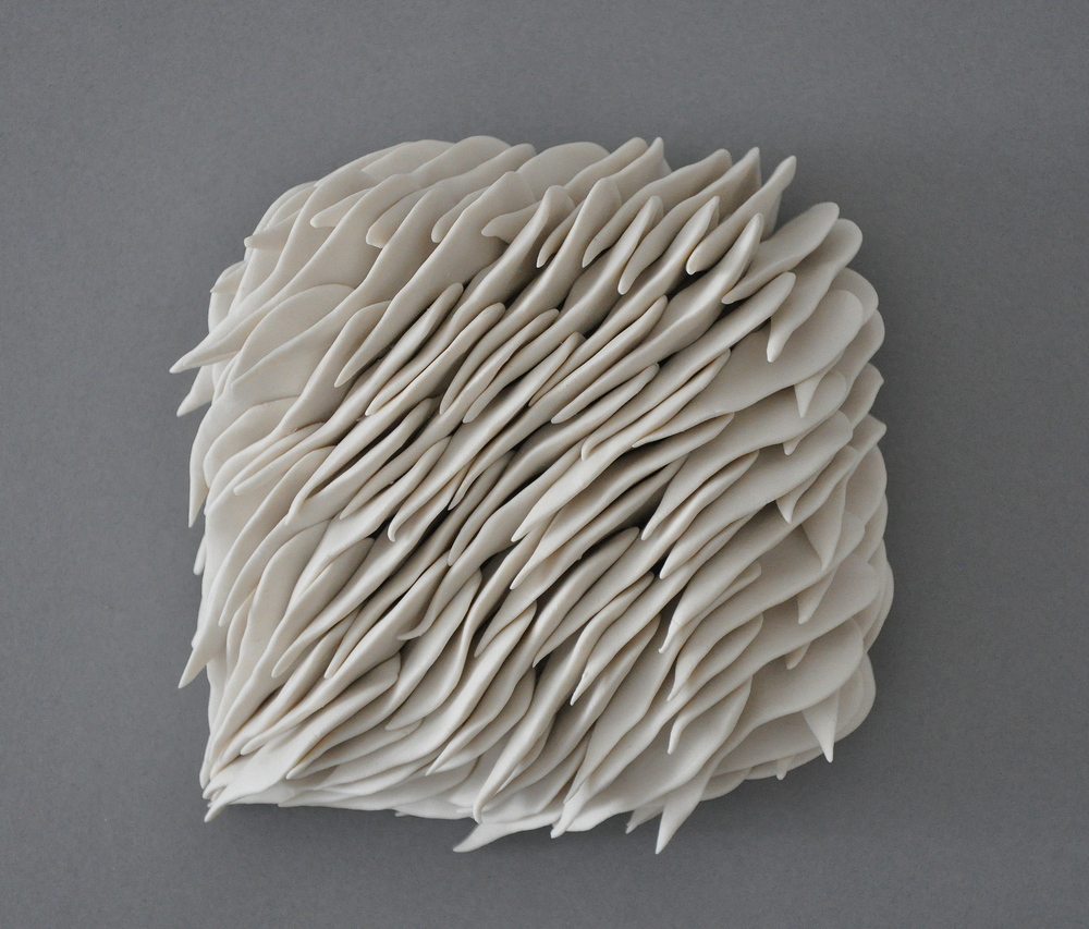 Heather Knight  Micro Wall Tile, 2016  Porcelain  4.5-5 square inches, approximate   $165 each